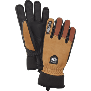 Gants de ski Hestra Army Leather Wool Terry brun