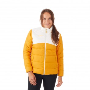 Veste isolante femme golden bright white - Mammut Whitehorn IN