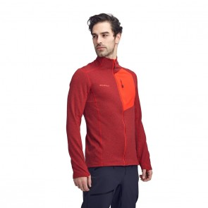Fleece homme - Mammut Aconcagua Light rouge