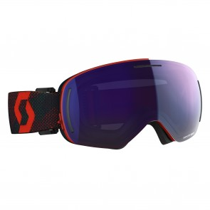 Masque de ski Scott LCG Evo Red / Blue Nights, écrans solar blue chrome & illuminator blue chrome