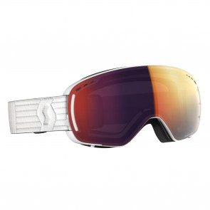 Masque de Ski Scott LCG Compact white, écrans solar red chrome & illuminator blue chrome