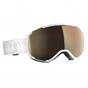 Masque de ski Scott Faze II white, écran Light Sensitive bronze chrome