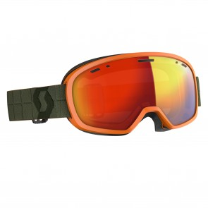 Masque de ski Scott Muse Pro kaki green, écran enhancer red chrome
