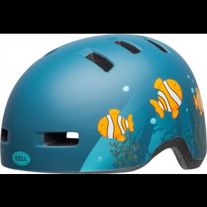 Casque VTT Bell Lil Ripper Junior Poisson Bleu - Casque vélo*