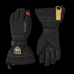 Gants de ski Hestra Army Leather Blizzard 5-finger Noir Brun
