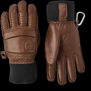 Gants de ski Hestra Leather Fall Line 5-finger Brun