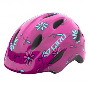Casque Giro Scamp MIPS Junior Fleurs Roses*