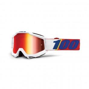 Masque de vélo Ride 100% Accuri blanc / rouge / bleu