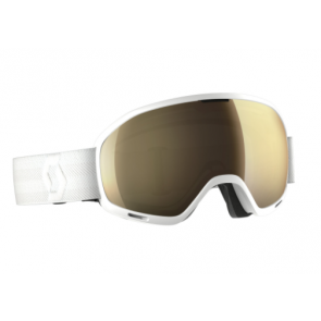 Masque de ski Scott Unlimited II OTG white, écran Light Sensitive bronze chrome
