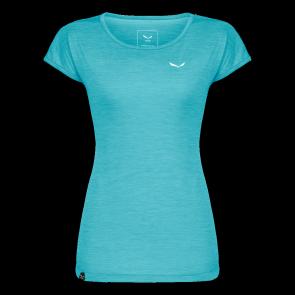 Salewa T-shirt PUEZ MELANGE DRY Bleu Femme