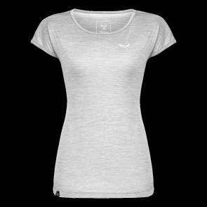 Salewa T-shirt PUEZ MELANGE DRY Blanc Melange Femme