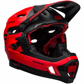 Super DH Spherical MIPS Helmet Bell - CASQUE VTT Unisex fasthouse rouge mat / noir *