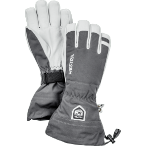 Gants de ski Hestra Army Leather Heli Ski gris