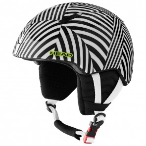 Casque Head Mojo Visor Junior rayé noir / blanc