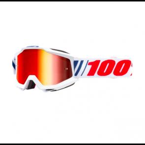 Masque de vélo Ride 100% Accuri AF066 Blanc / Bleu*
