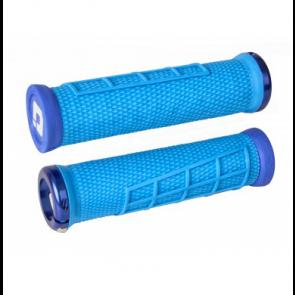 Poignées ODI Elite Flow Light Blue - poignées VTT