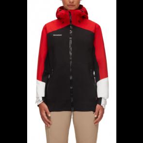 Mammut Veste de randonnée Convey Tour HS Hooded Femme Noir Rouge Blanc