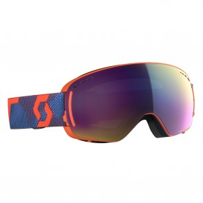Scott LCG Compact grenadine orange Brille, lenses enhancer teal chrome & illuminator blue chrome