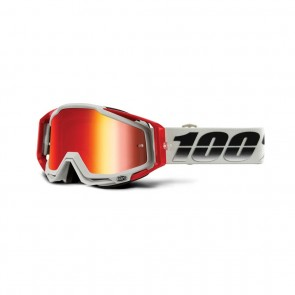 Goggle Ride 100% Racecraft weiss / rot