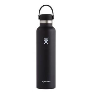 Hydro Flask 24 oz Standard Mouth 0.709 L Schwarz