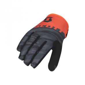 SCOTT 350 Dirt Handschuh Schwarz Orange