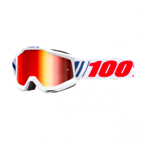 MTB Goggle Ride 100% Accuri Goggle weiss / gelb