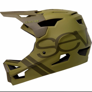 Fahrradhelm Seven Project 23 ABS Matt Army Grun - Full Face-Helmet 7iDP