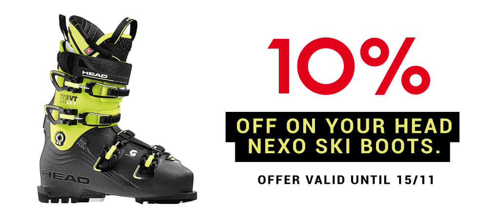 10% off on your HEAD NEXO ski boots