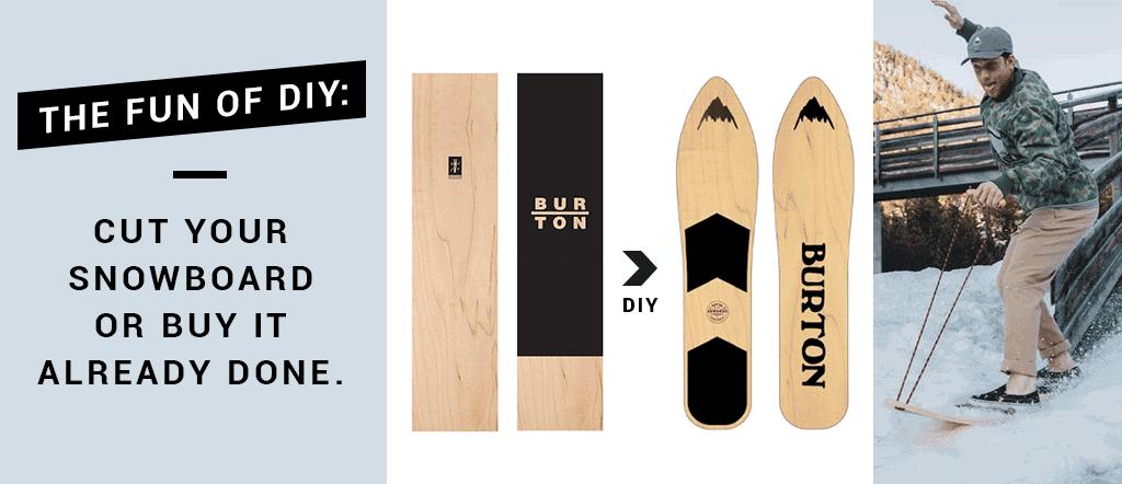 The fun of DIY: cut your snowboard