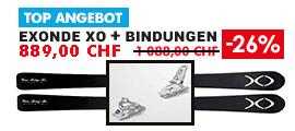 Ski Exonde XO V21 Black + Bindung Marker Squire 11 ID White 90mm