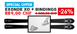 Ski Exonde XO V21 Black + Binding Marker Squire 11 ID White 90mm