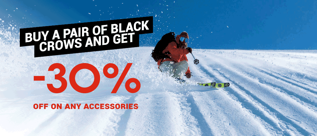 Buy a pair of Black Crows and get 30% off on any accessories